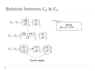 Relation between C P  & C V