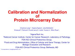 Calibration and Normalization of Protein Microarray Data