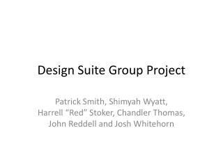 Design Suite Group Project