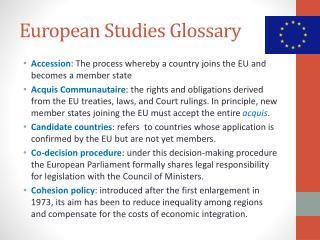 European Studies Glossary
