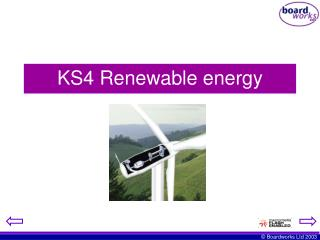 KS4 Renewable energy