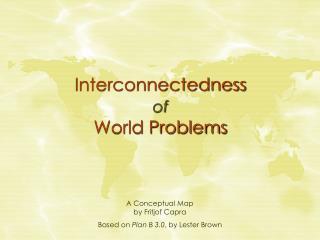 Interconnectedness of World Problems