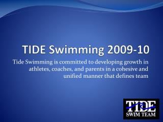 TIDE Swimming 2009-10