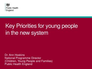 Key Priorities for young people in the new system