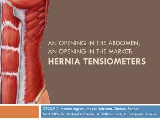 An Opening in the Abdomen, An Opening in the Market: Hernia  Tensiometers