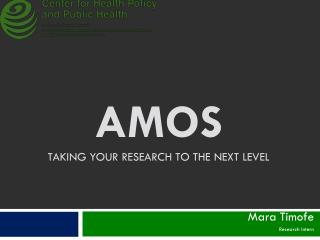 AMOS taking your research to the next level