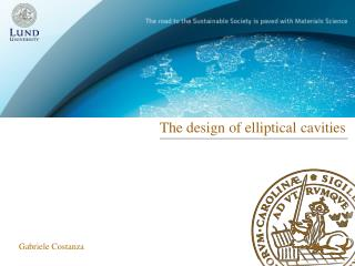 The design  of elliptical cavities