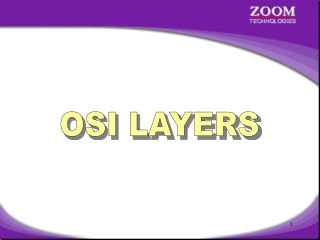 OSI model   Layers 1-4