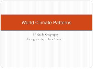 World Climate Patterns