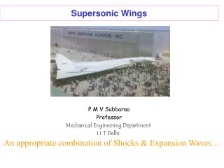 Supersonic Wings