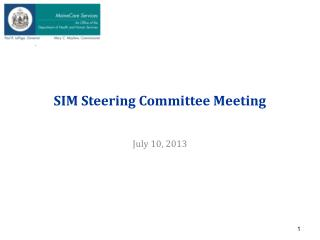 SIM Steering Committee Meeting