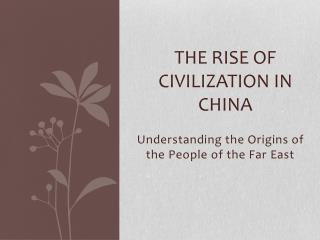 The Rise of Civilization in China