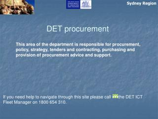 DET procurement