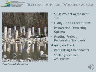 Successful Applicant Workshop Agenda