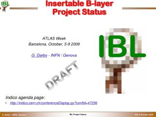 Insertable  B-layer Project Status