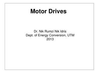 Motor Drives