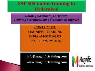 SAP MM online training In Hyderabad