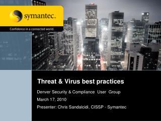 Threat & Virus best practices