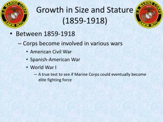 Growth in Size and Stature (1859-1918)
