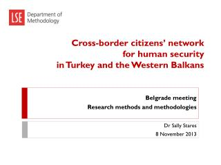 Cross-border citizens' network for human security in Turkey and the Western Balkans
