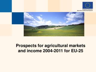 Prospects for agricultural markets and income 2004-2011  for EU-25