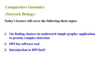 On finding clusters in undirected simple graphs: application to protein complex detection