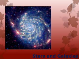Stars and Galaxies