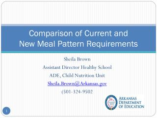 Comparison of Current and  New Meal Pattern Requirements