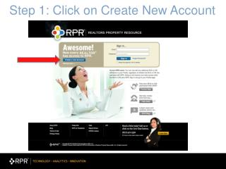 Step 1: Click on Create New Account