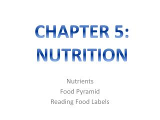 Nutrients Food Pyramid Reading Food Labels