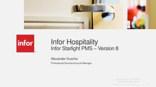 Infor Hospitality Infor Starlight  PMS – Version 8
