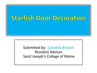 Starfish  Door Decoration