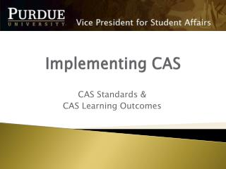 Implementing CAS