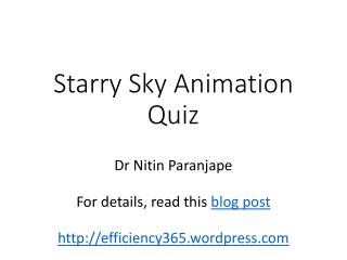 Starry Sky Animation Quiz