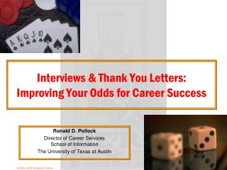 Interviews & Thank You Letters: Improving Your Odds for Career Success