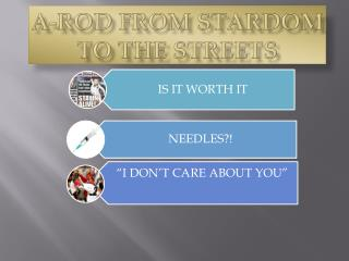 A-ROD FROM STARDOM TO THE STREETS