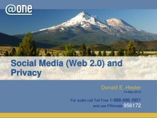Social Media (Web 2.0) and Privacy
