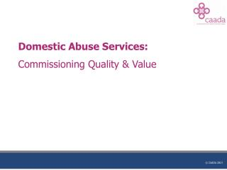 Domestic Abuse Services: