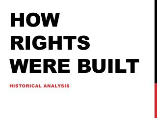 How rights were built