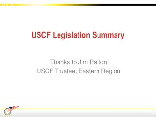 USCF Legislation Summary