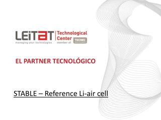 STABLE – Reference Li-air cell