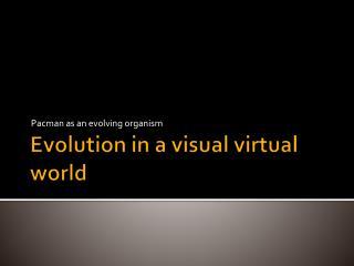 Evolution in a visual virtual world
