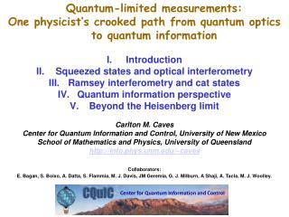 Quantum-limited  measurements: