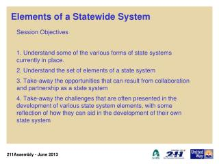 Elements of a Statewide System