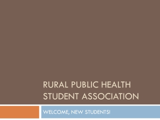 WELCOME TO THE NATIONAL RURAL HEALTH MISSION..