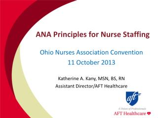 ANA Principles for Nurse Staffing