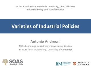Varieties of Industrial Policies