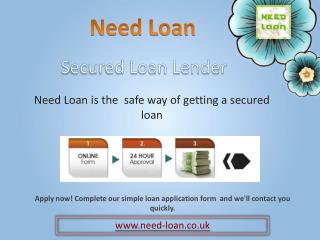 Need Online Secured Loan at Low Interest Rate in UK