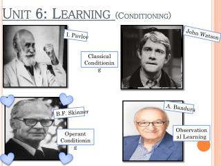 Unit 6: Learning  (Conditioning)