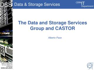 The  Data and Storage Services Group  and CASTOR